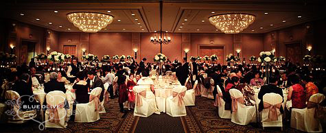 Wedding reception at the Fairmont Waterfront Vancouver